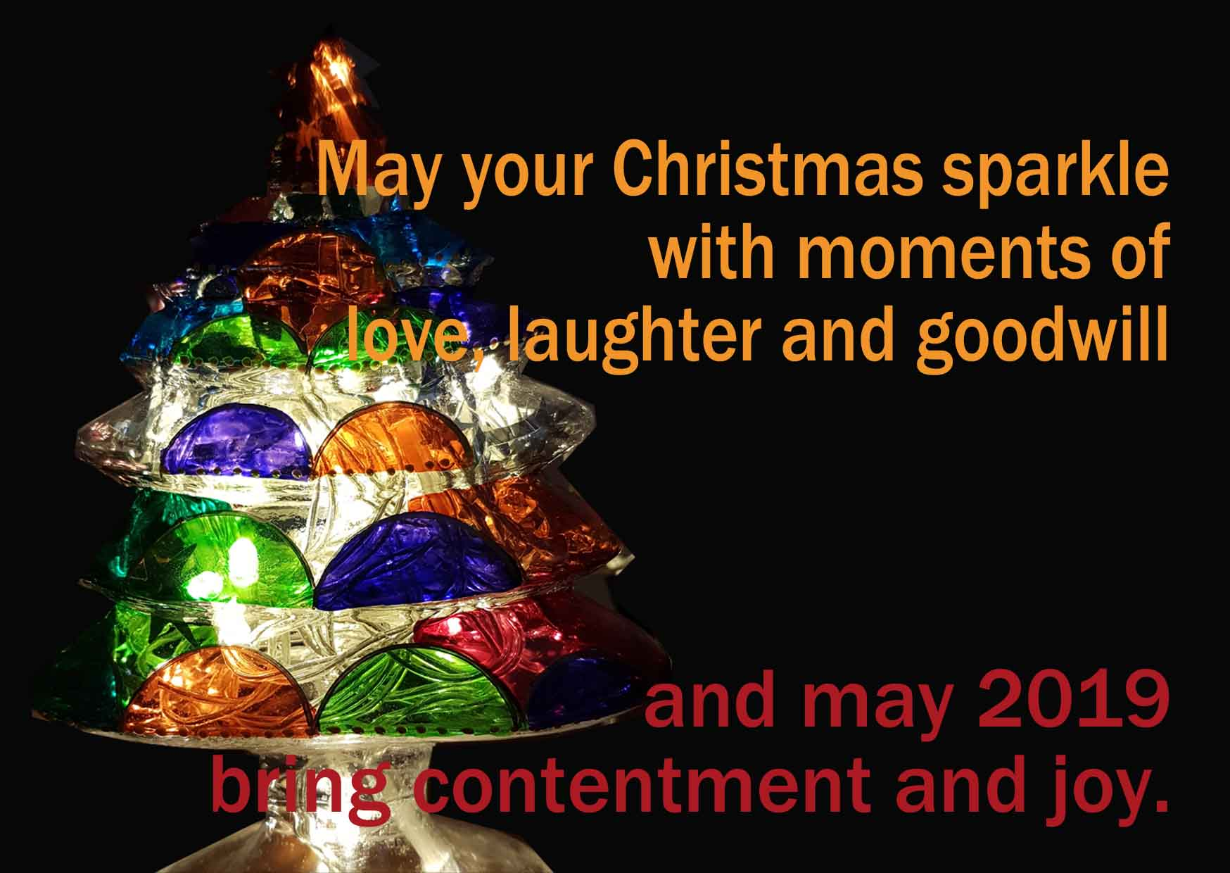 May your Christmas sparkle with moments of love, laughter and goodwill