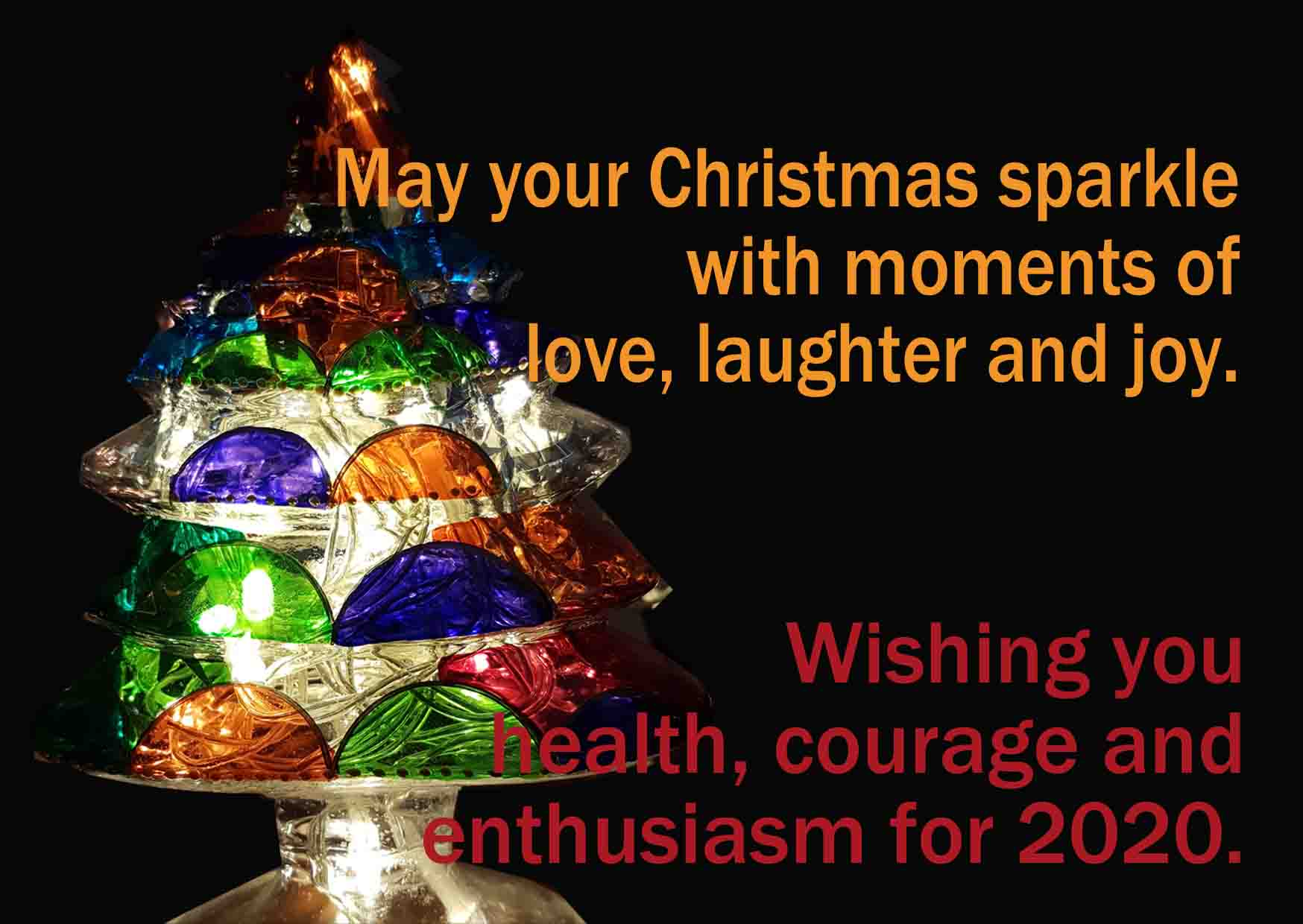 May your Christmas sparkle with moments of love, laughter and joy.