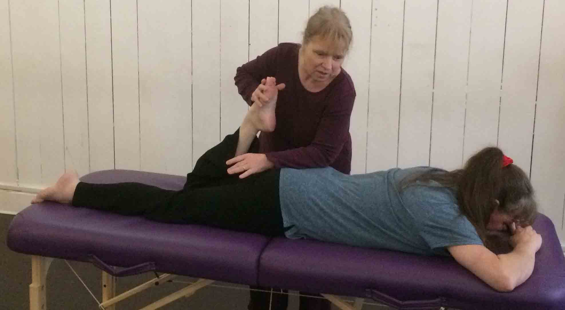 Quadratus lumborum stretch, part of the superfiical front line.